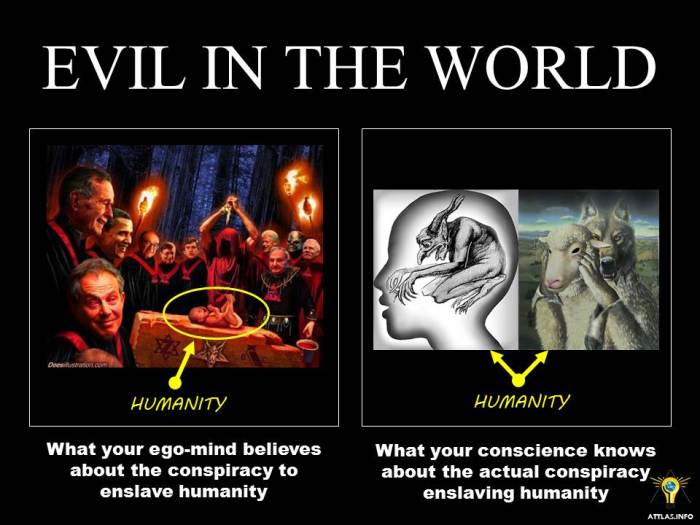 Evil in the World – What your ego-mind believes; what your conscience knows