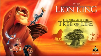 The Lion King The Circle Of The Tree Of Life Attlas In Formation